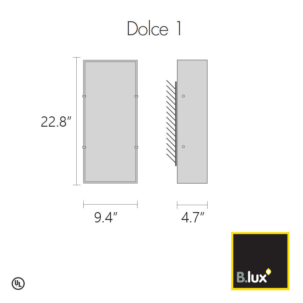 B.Lux Dolce 1 Wall Light | B. Lux | LoftModern