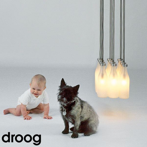 Droog 12 Milk Bottle Pendant Light - LoftModern - 3