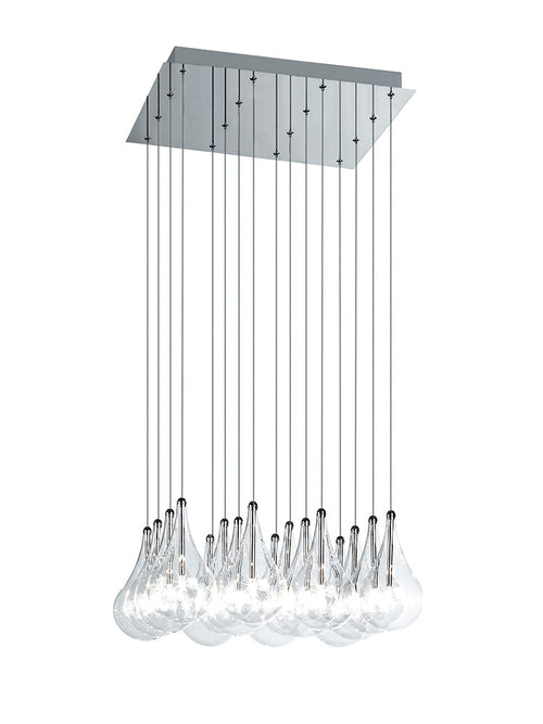 Drop LED 16-Light Pendant Square by Alma Light