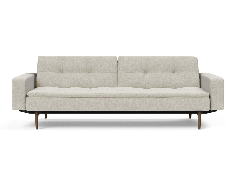 Innovation Dublexo Sofa Bed with Arms and Dark Wood Legs