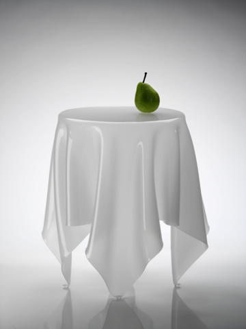 Illusion Table  Ice White of Essey