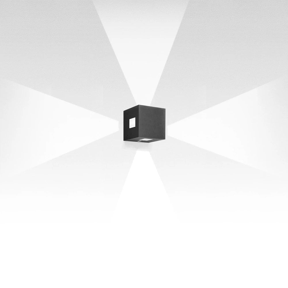 Effetto 14 Square 4 Large LED Wall Light by Artemide