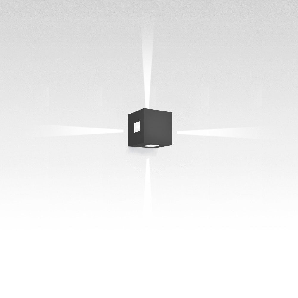 Effetto 14 Square 4 Narrow LED Wall Light by Artemide