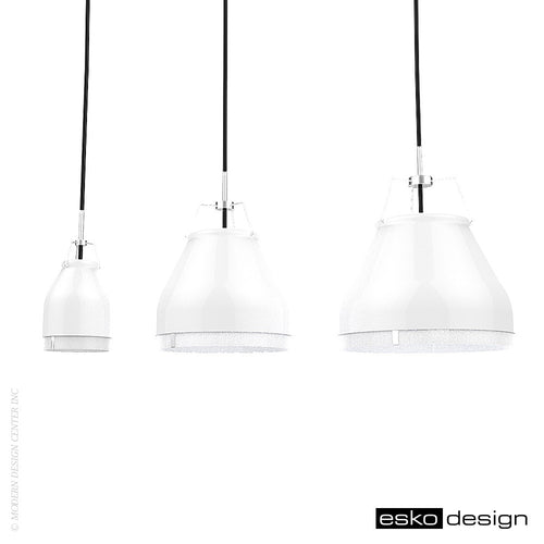 Cowbelle Pendant Traffic White by Esko Design | Esko Design | LoftModern