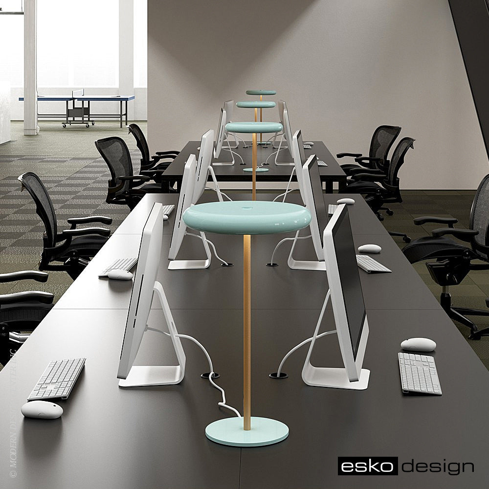 Radius Desk Lamp Leather by Esko Design | Esko Design | LoftModern