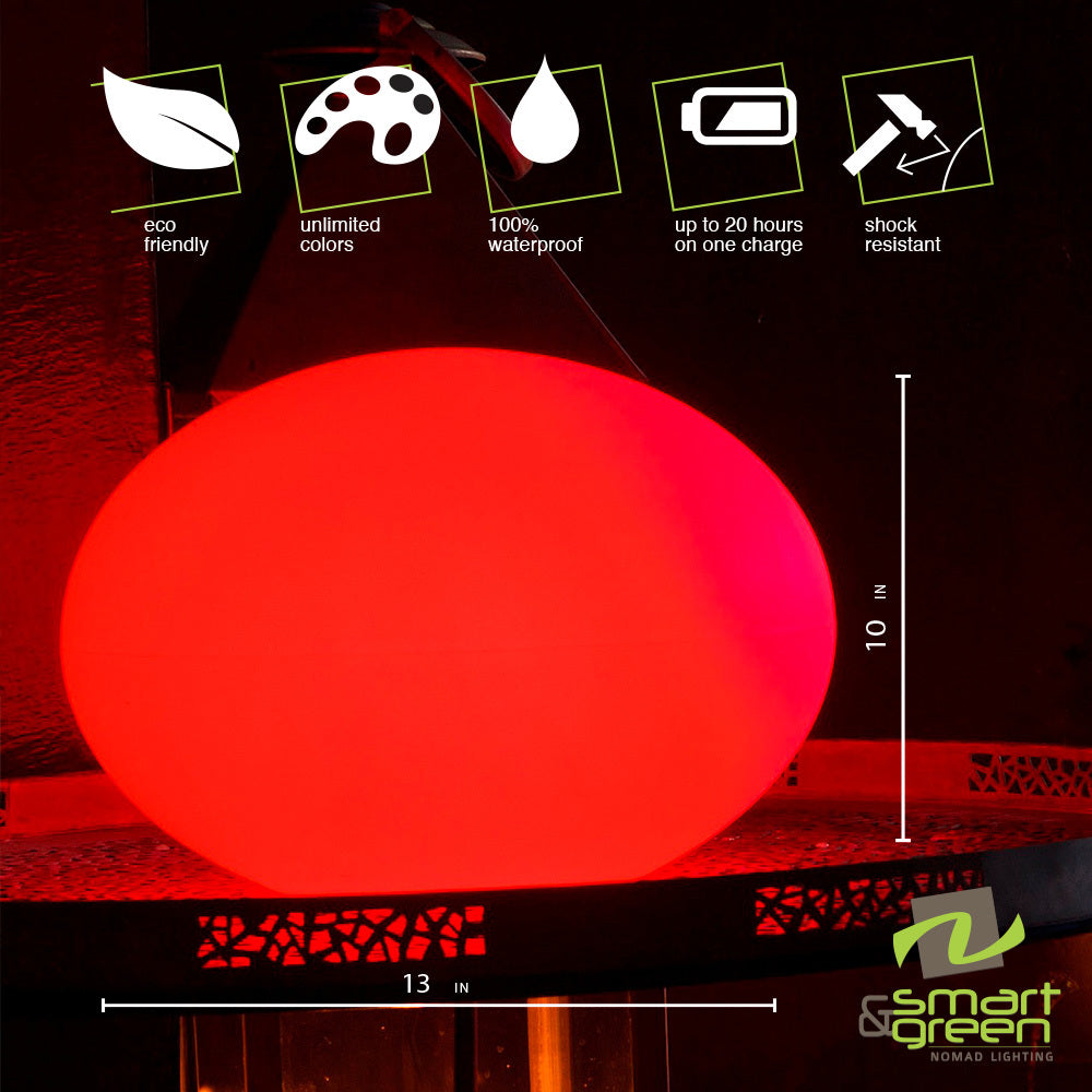 Flatball LED Cordless Lamp by Smart & Green