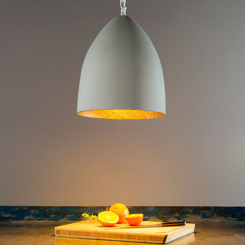In-es.artdesign Flower S Cemento Pendant Light