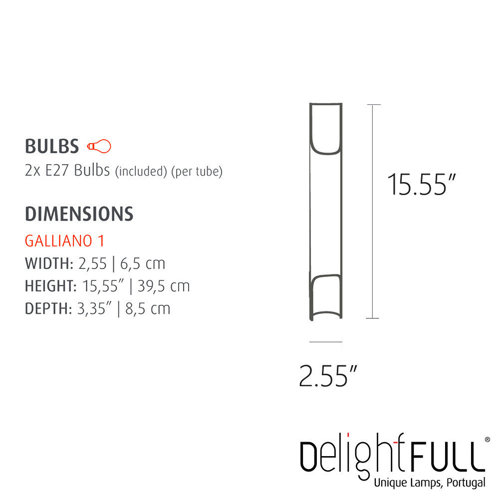 DelightFULL Galliano 1 Wall Light | Delightfull | LoftModern