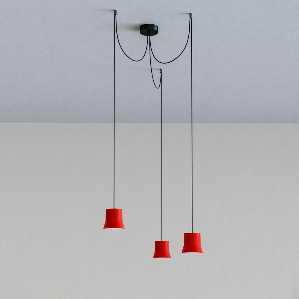 Gio Cluster Red Pendant Light by Artemide