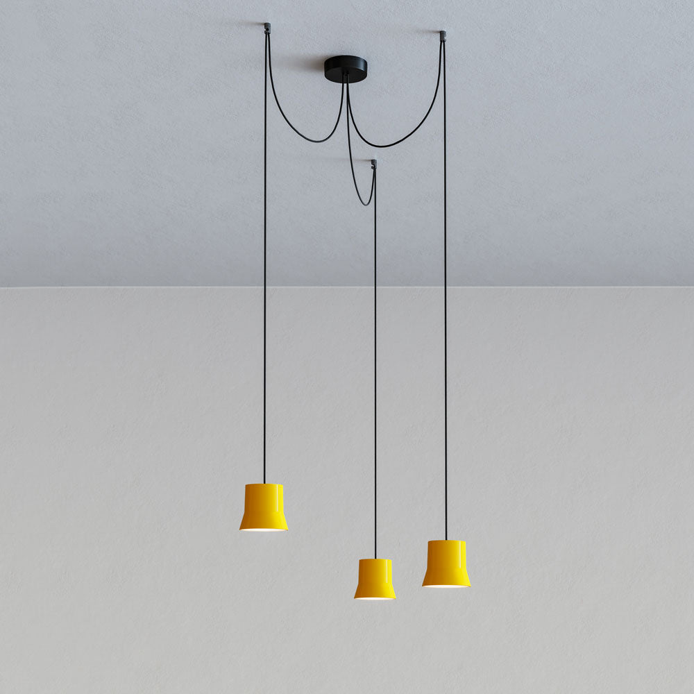 Gio Cluster Yellow Pendant Light by Artemide