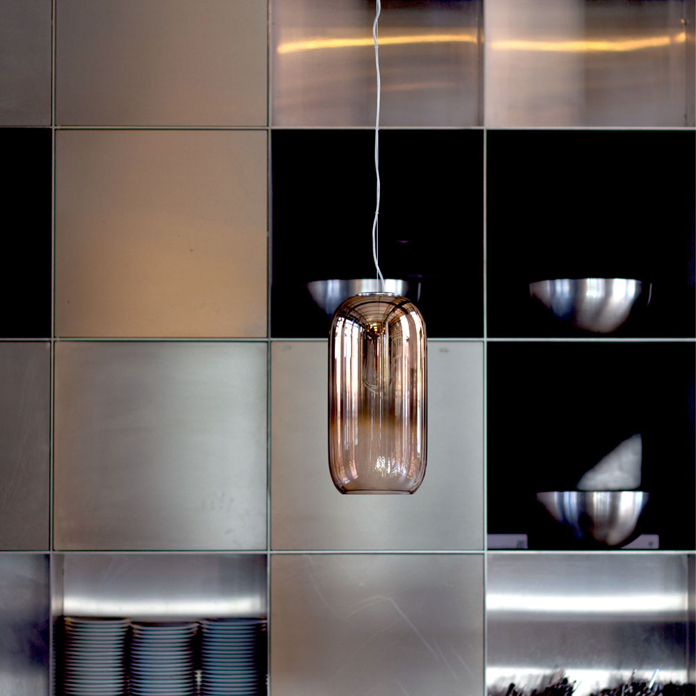 Gople Copper Pendant Light by Artemide