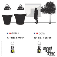 Gota LED Cordless Planter by Smart & Green