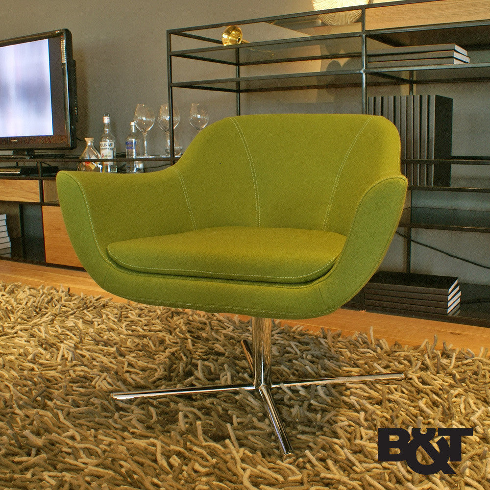 B&T Green Lounge Chair | B&T | LoftModern