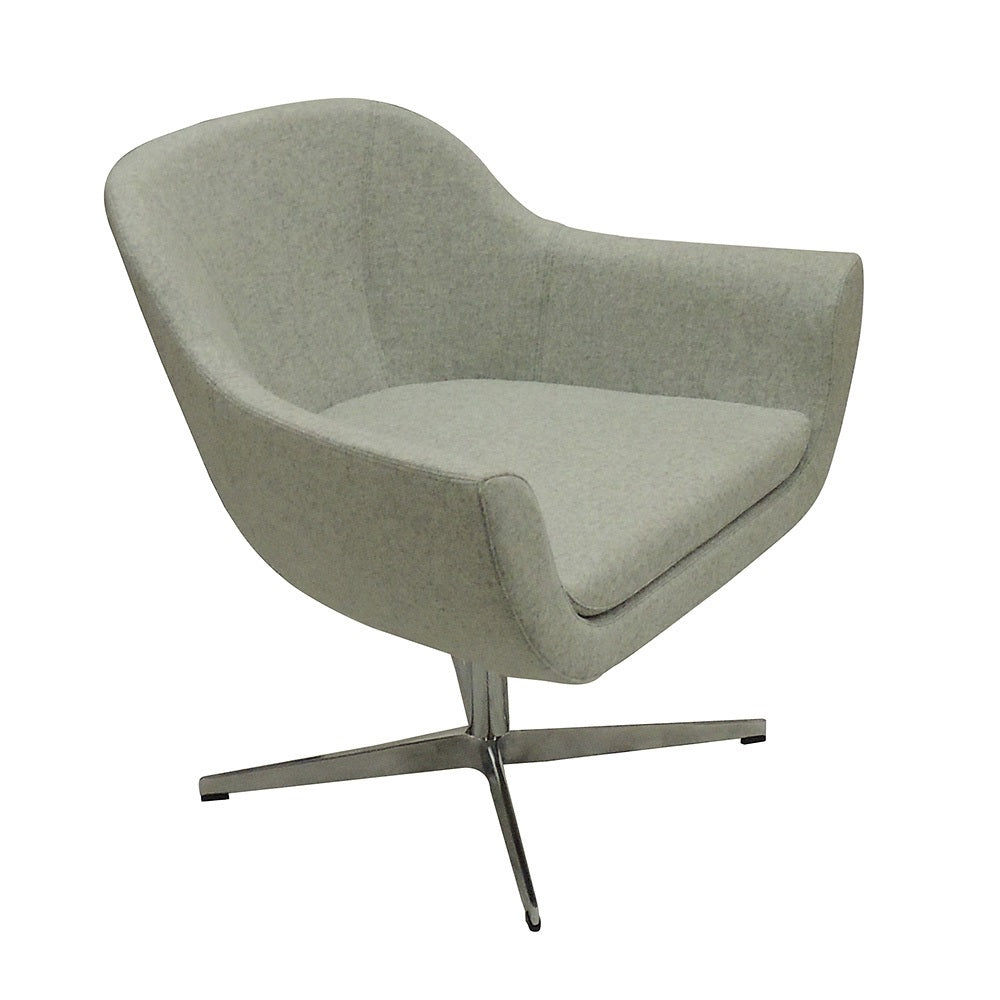 B&T Green Lounge Swivel Base Chair