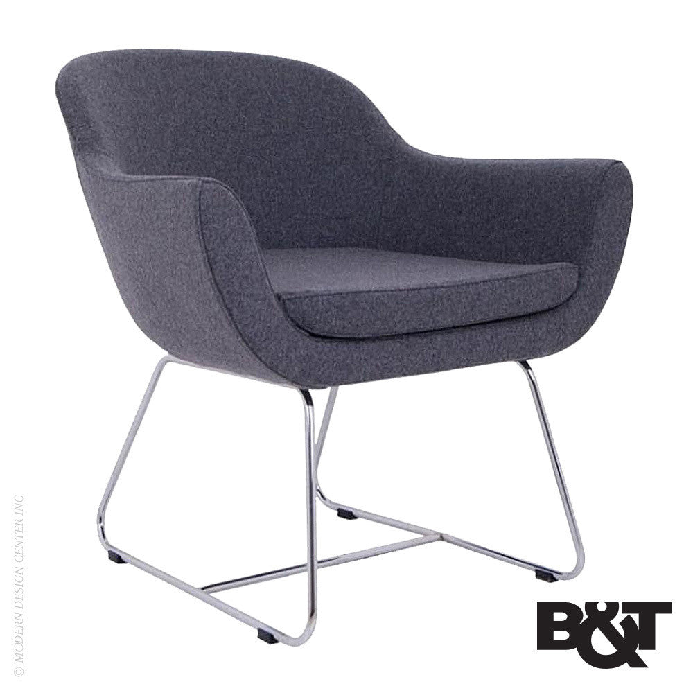 B&T Green Lounge Chair Wire Base | B&T | LoftModern