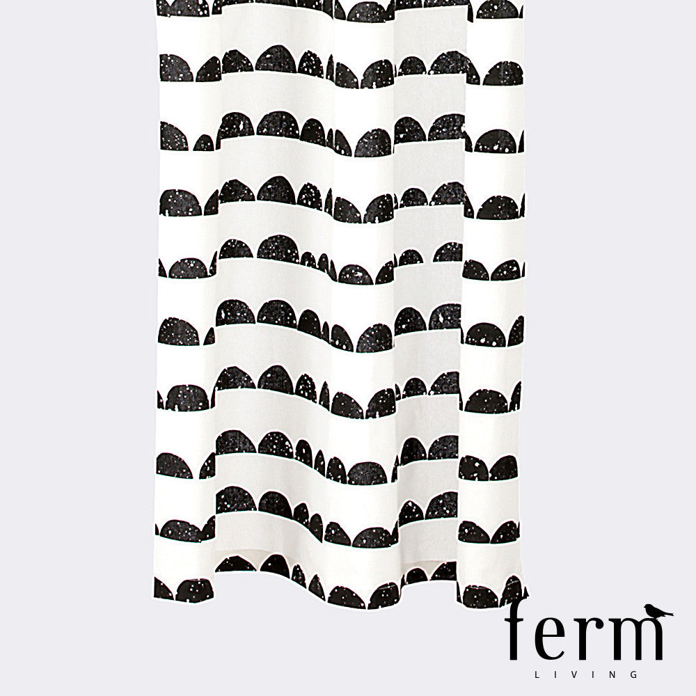 Ferm Living Half Moon Shower Curtain | Ferm Living | LoftModern