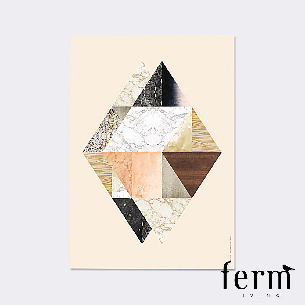 Ferm Living Harlequin Twin Illustration - LoftModern - 1