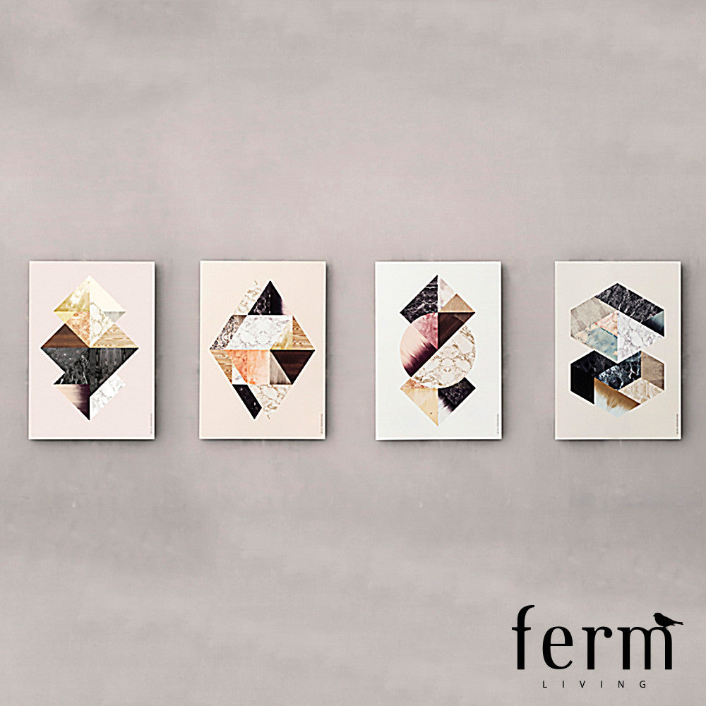 Ferm Living Harlequin Twin Illustration - LoftModern - 2