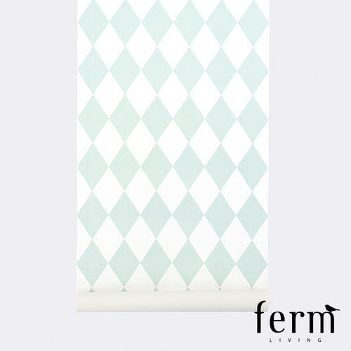 Ferm Living Harlequin Wallpaper Mint | Ferm Living | LoftModern