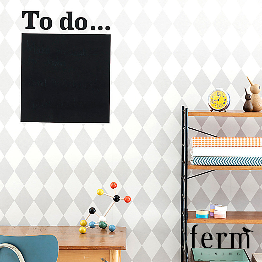 Ferm Living Harlequin Wallpaper Grey | Ferm Living | LoftModern