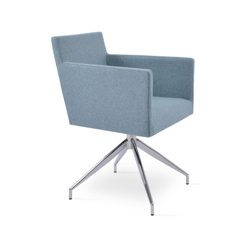 Harput Spider Swivel Arm Chair Fabric by SohoConcept
