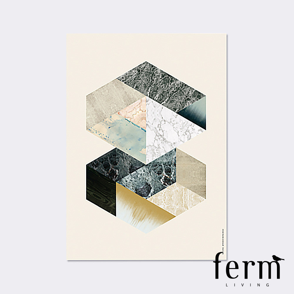 Ferm Living Hexagons Illustration - LoftModern