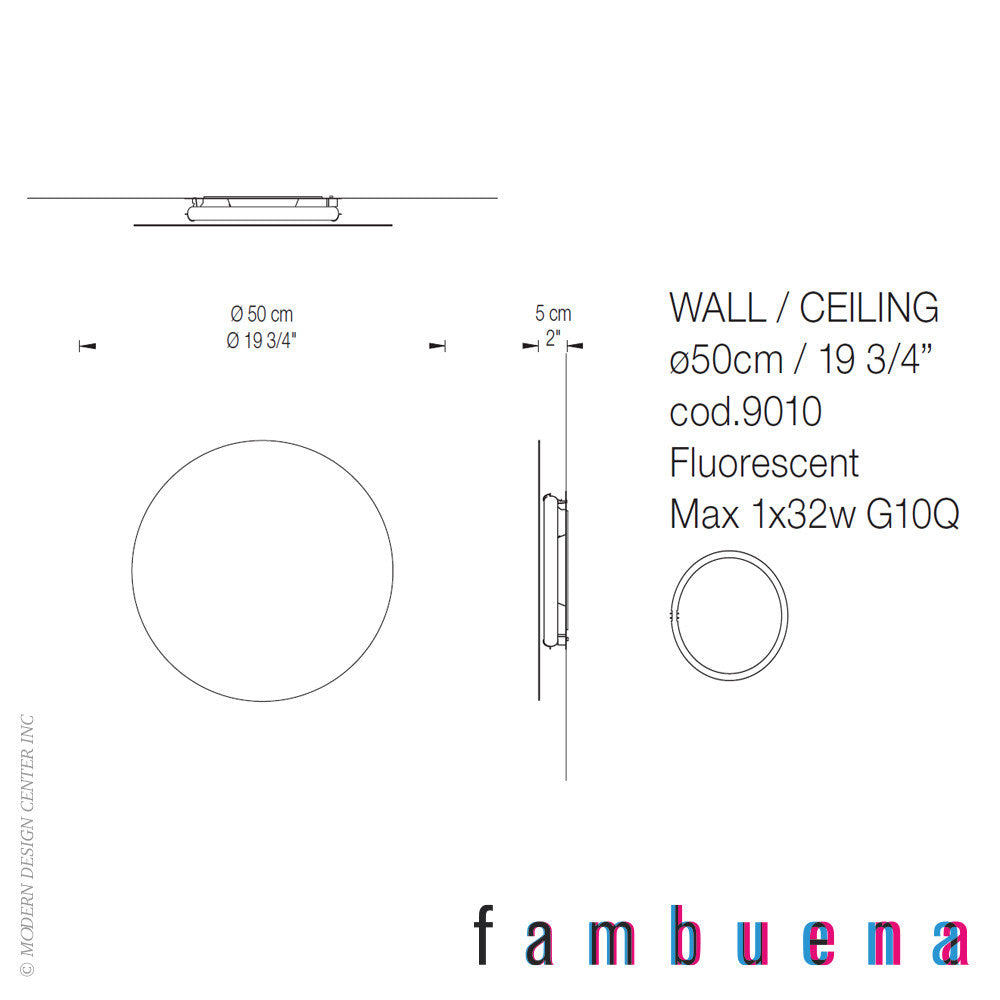 Fambuena Hoop 50 Metal Wall Light | Fambuena | LoftModern