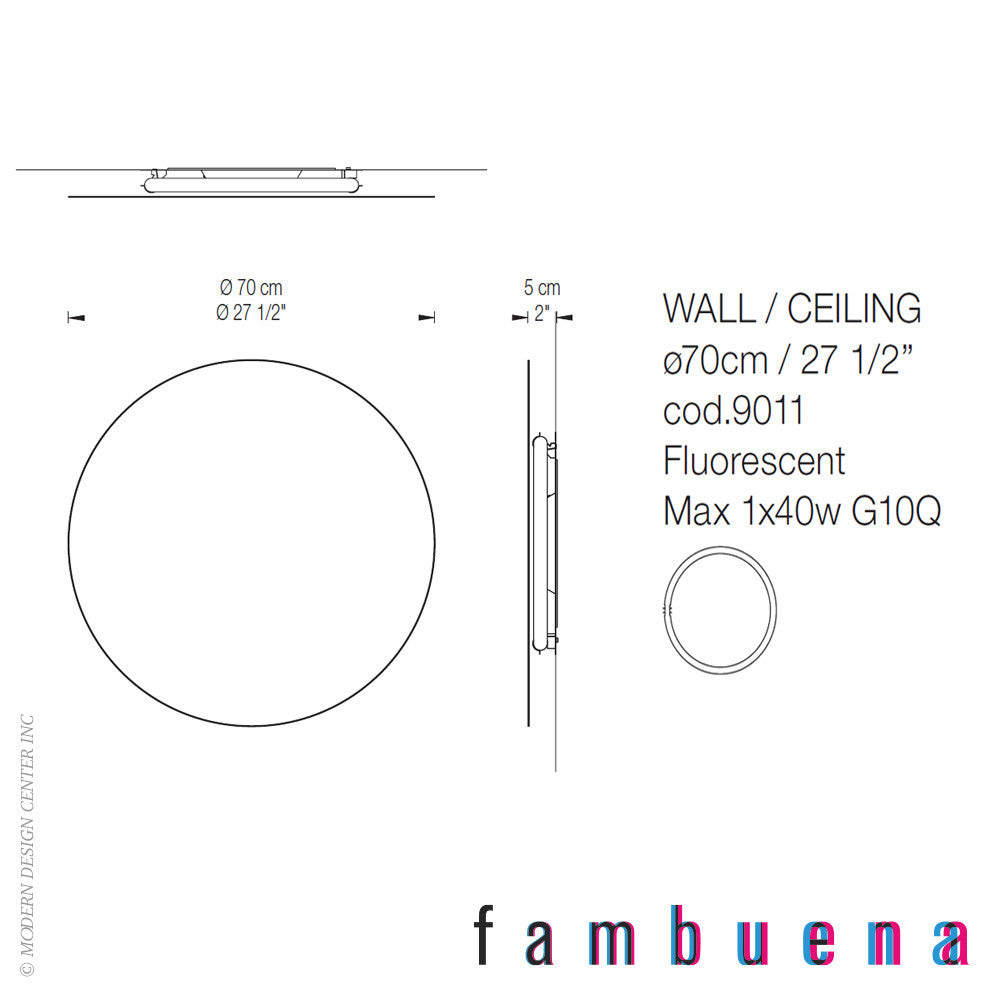 Fambuena Hoop 70 Metal Wall Light - LoftModern - 3