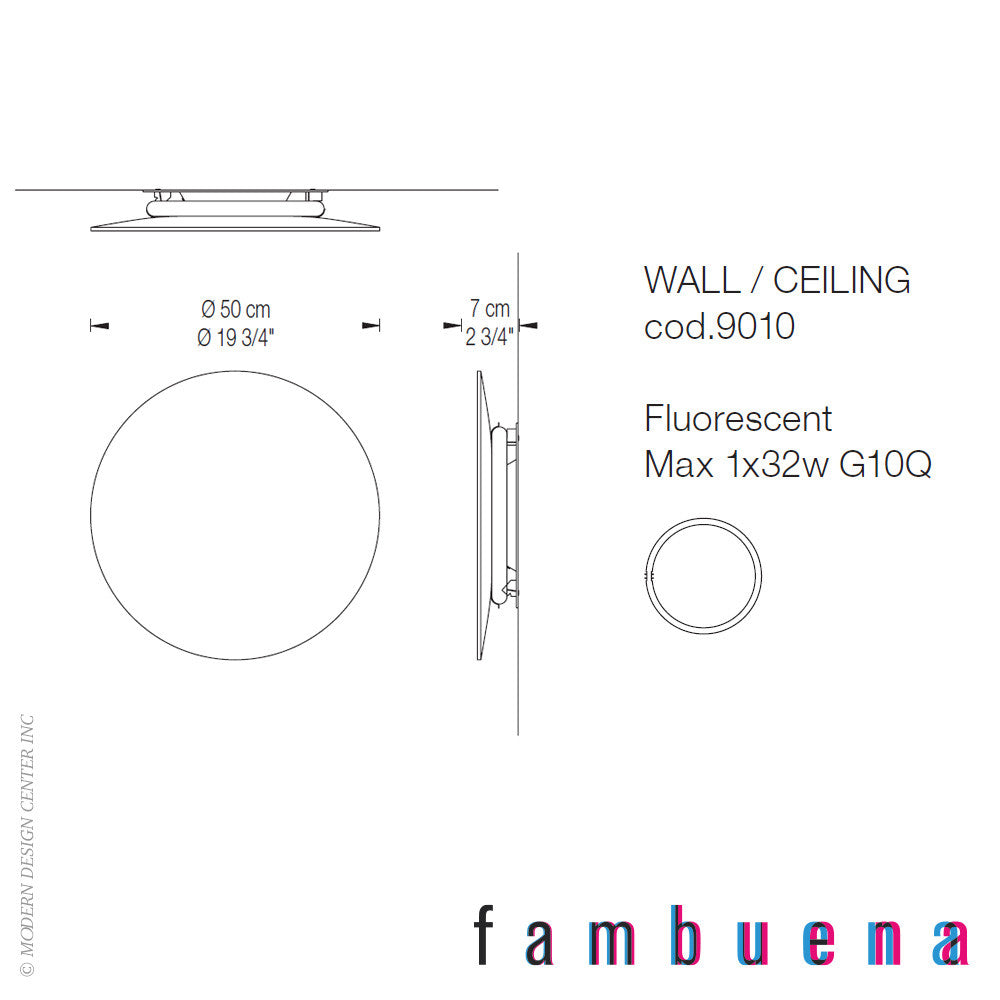 Fambuena Hoop Glass Wall Light | Fambuena | LoftModern