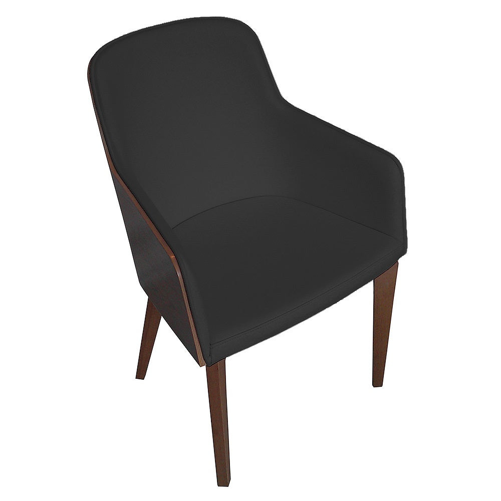 B&T Hudson Wood Base Armchair