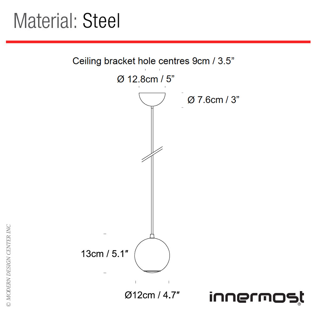 Innermost Boule Pendant Light