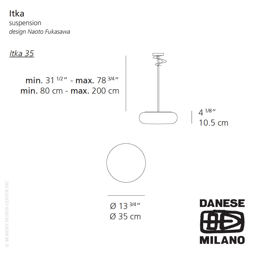 Itka 35 Suspension by Danese Milano