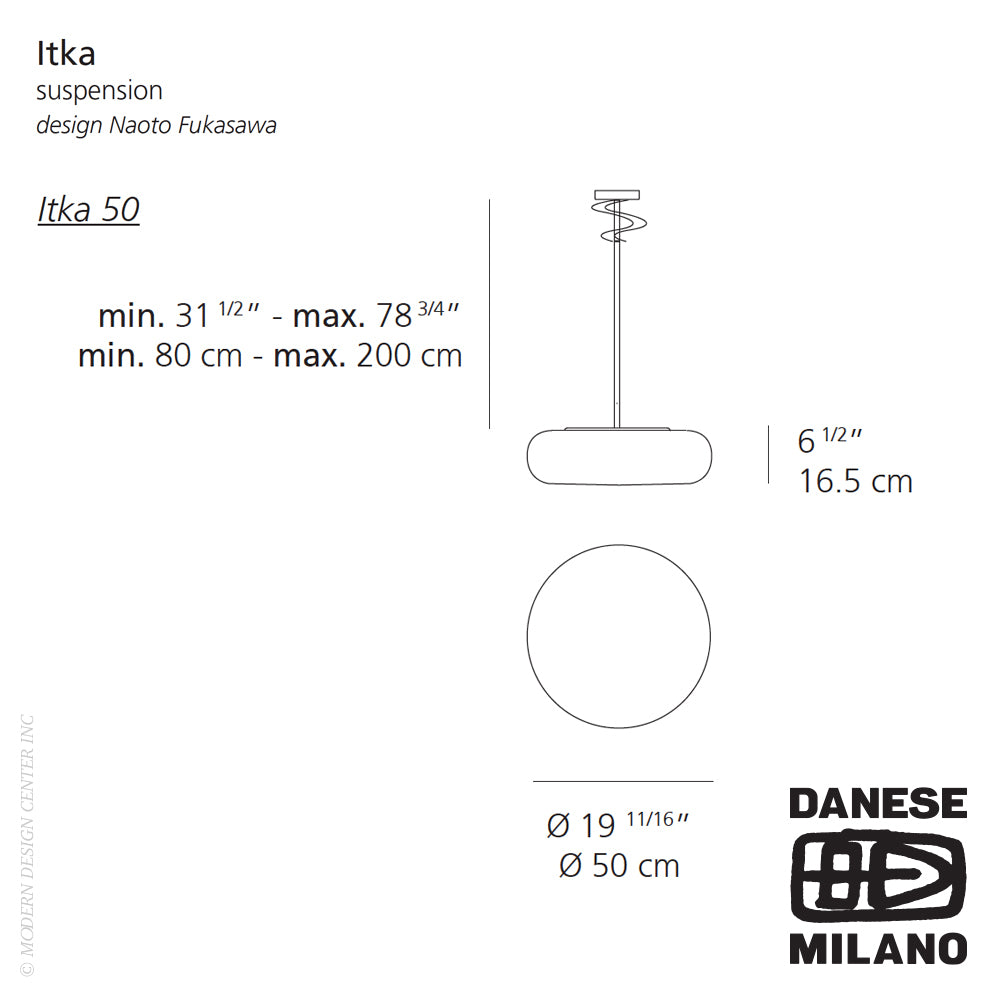 Itka 50 Suspension by Danese Milano