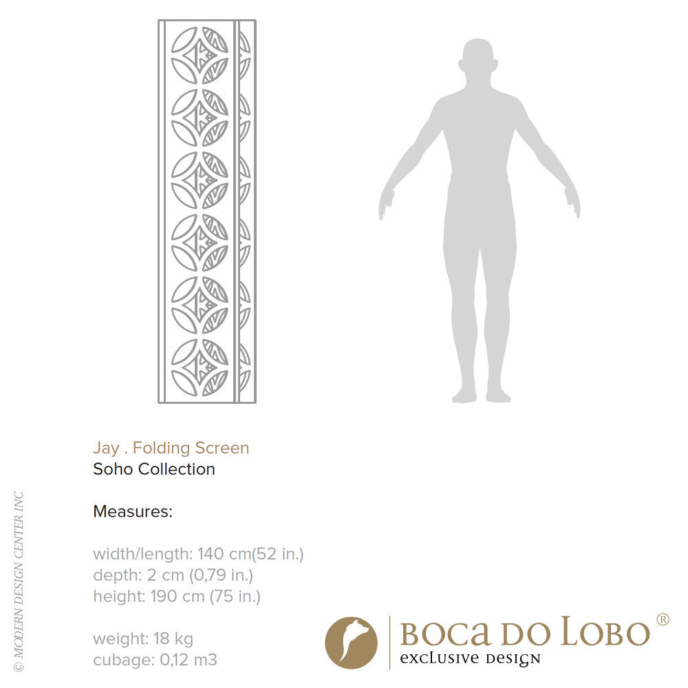 Boca do Lobo Jay Folding Screen Soho Collection | Boca do Lobo | LoftModern