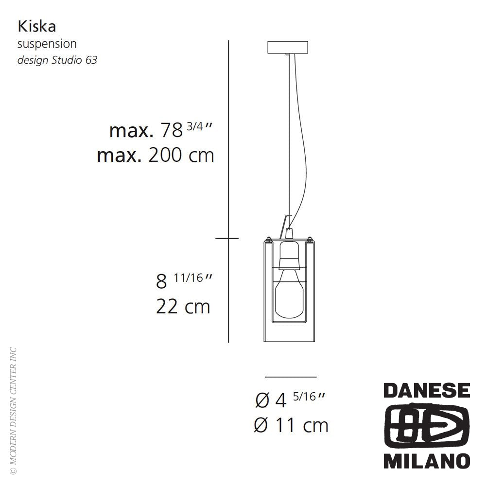Kiska Suspension by Danese Milano