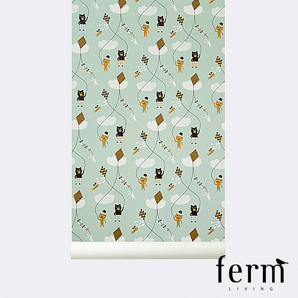 Ferm Living Kite Wallpaper Mint | Ferm Living | LoftModern