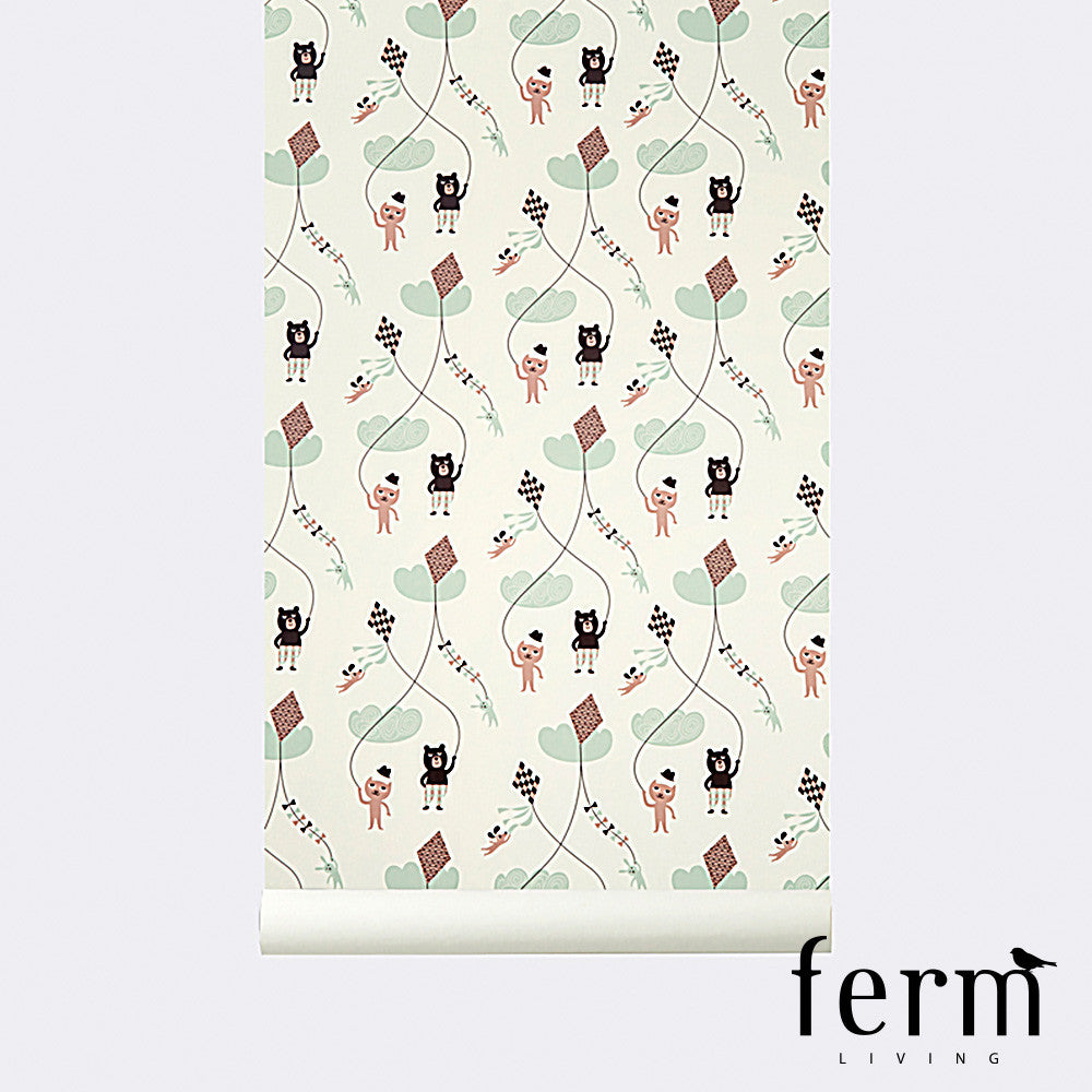 Ferm Living Kite Wallpaper Rose - LoftModern - 1