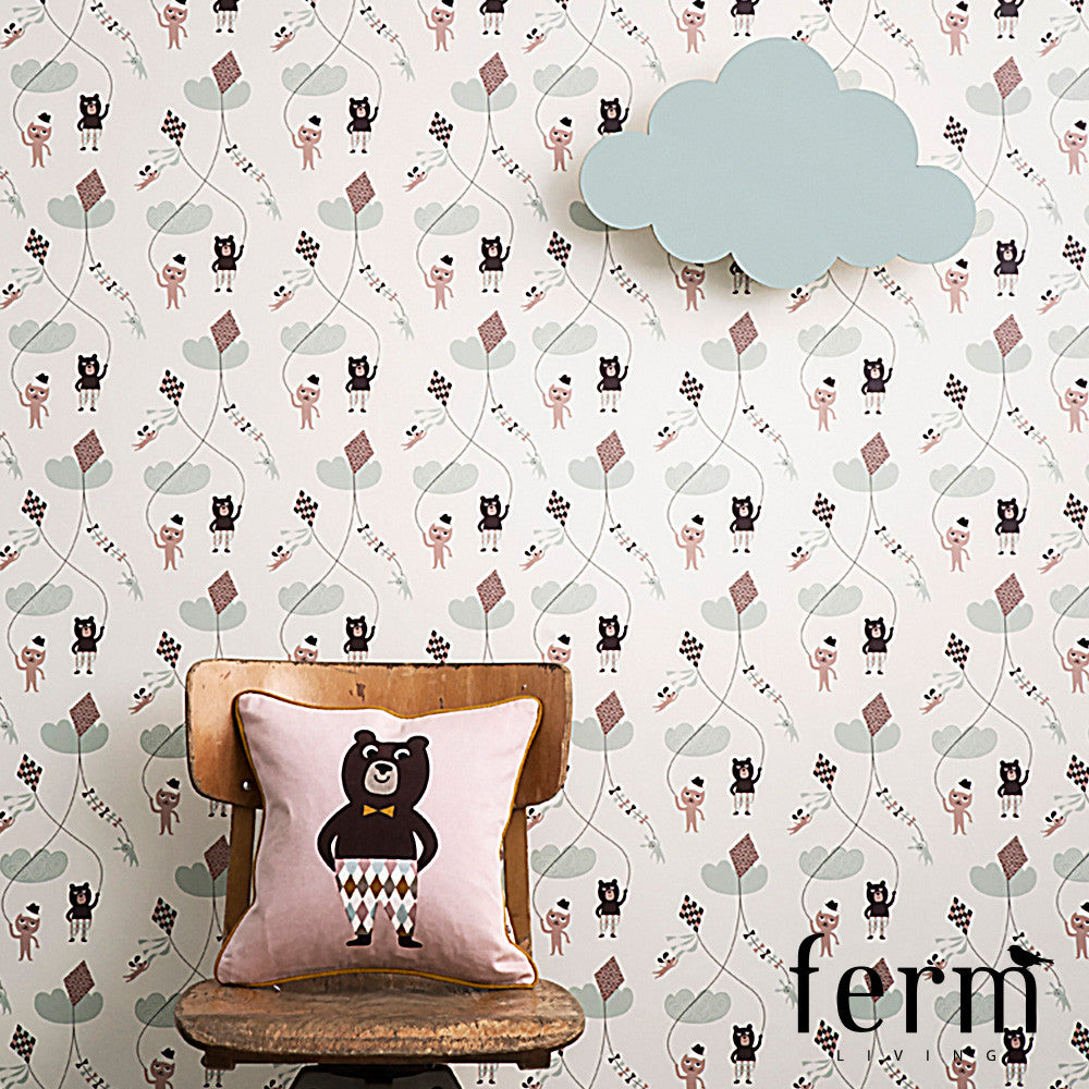 Ferm Living Kite Wallpaper Rose | Ferm Living | LoftModern