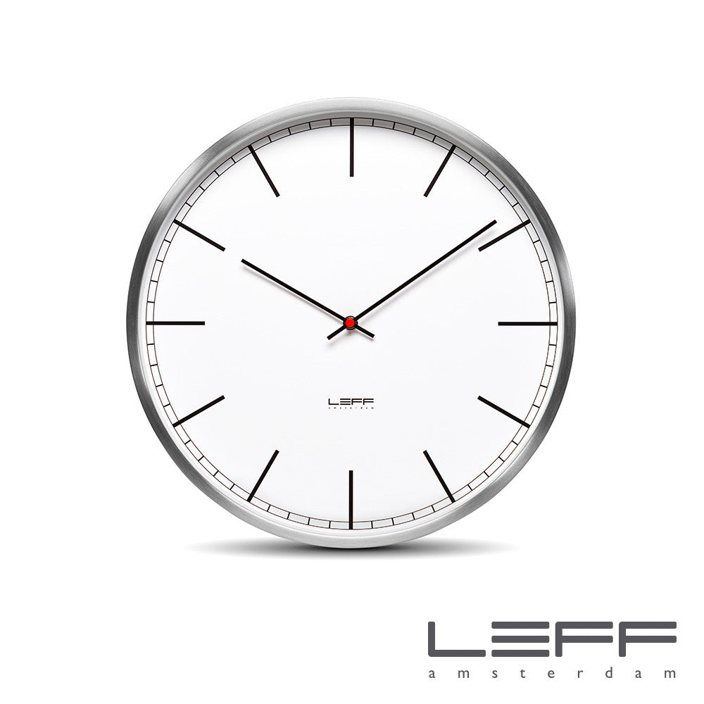 Leff One Wall Clock Index Stainless Steel | Leff | LoftModern