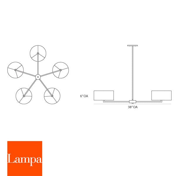 Lampa Star Chandelier - LoftModern - 3