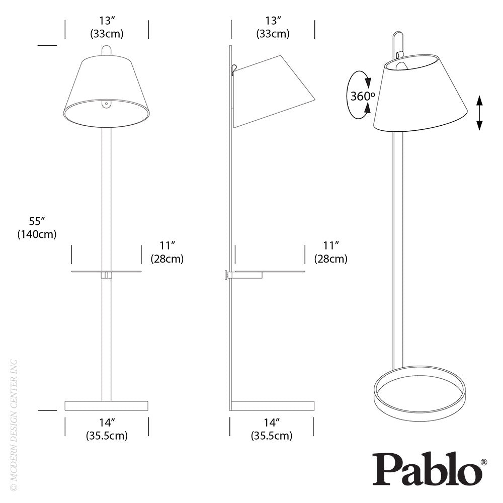 Pablo Designs Lana Floor LED | Pablo Design | LoftModern