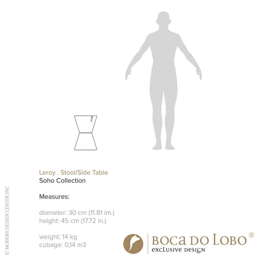 Boca do Lobo Leroy Stool Soho Collection | Boca do Lobo | LoftModern