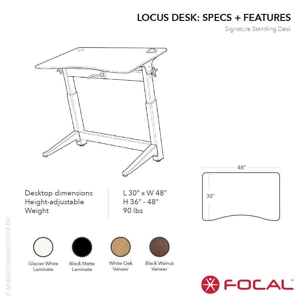 Focal Upright Locus 4 Desk - LoftModern - 17