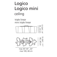 Artemide Logico Triple Linear Ceiling Light | Artemide | LoftModern