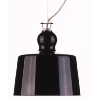 Acquatinta Black Glass Pendant Light of Produzione Privata - LoftModern