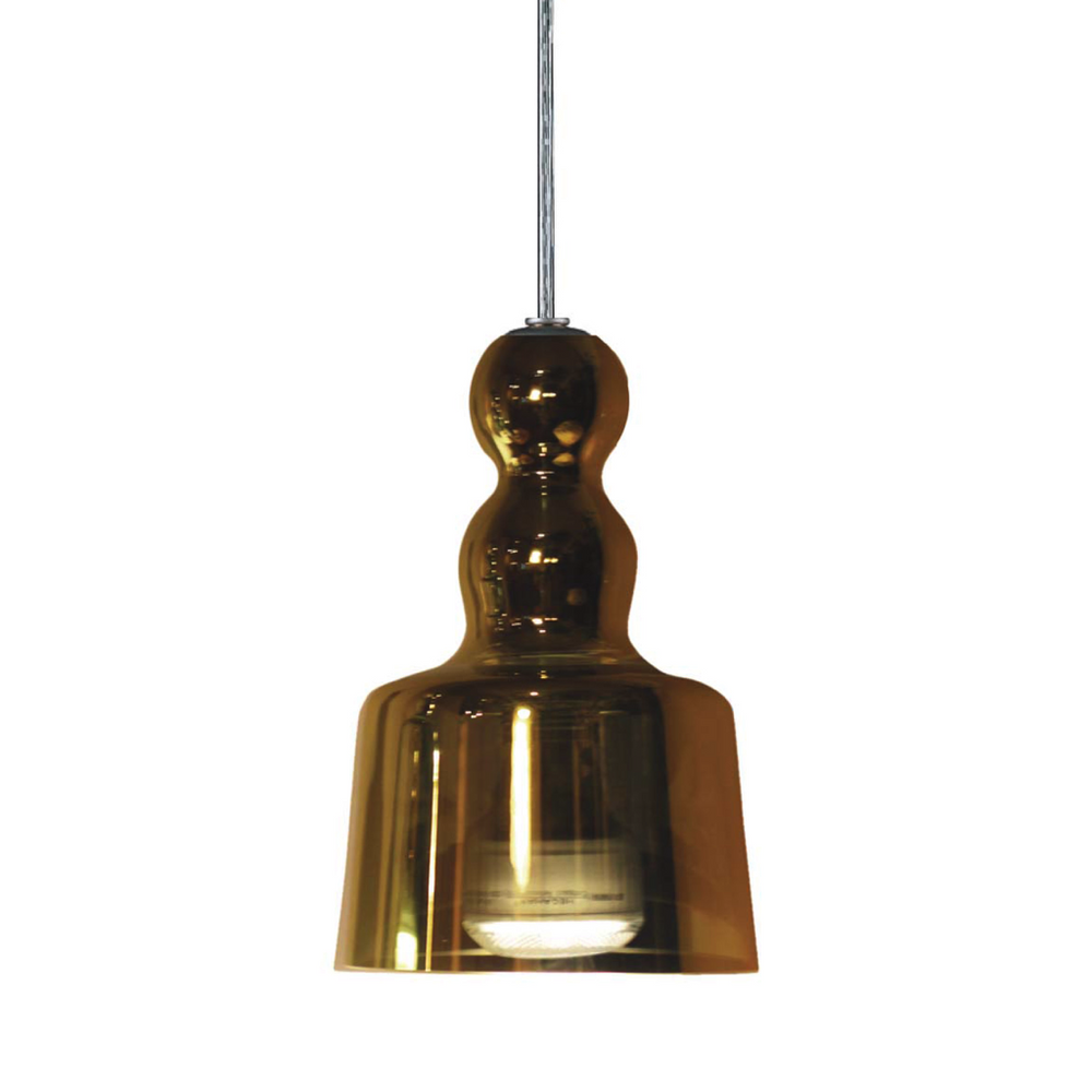 Acquamiki Gold Glass Pendant Light of Produzione Privata