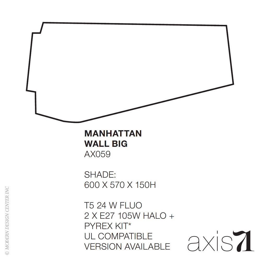 Axis 71 Manhattan Big Wall Lamp | Axis 71 | LoftModern