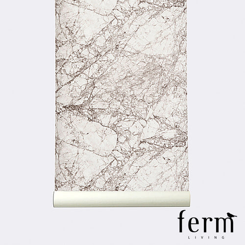 Ferm Living Marble Wallpaper Grey | Ferm Living | LoftModern