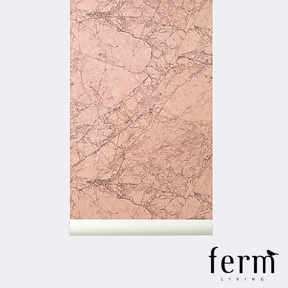 Ferm Living Marble Wallpaper Rose | Ferm Living | LoftModern