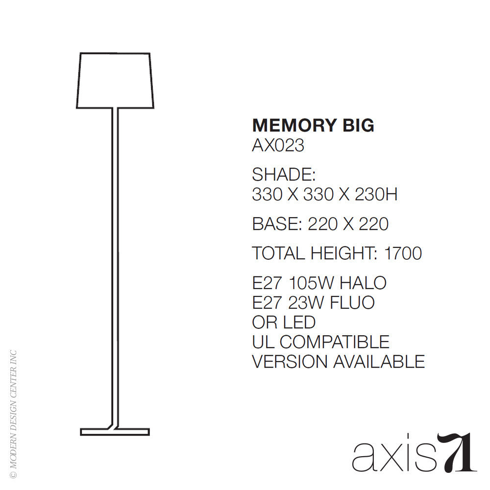 Axis 71 Memory Big Floor Lamp | Axis 71 | LoftModern
